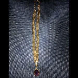Swarovski pendant on a gold chain 💕New Listing💕